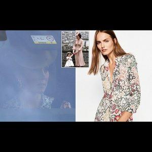 Zara Floral Dress ASO Kate Middleton